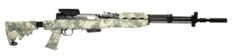 SKS T6 Adjustable Stock with spike bayonet cut (Olive Drab)
