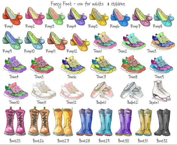 Personalised Family Name Welly Boot Family Tree Print