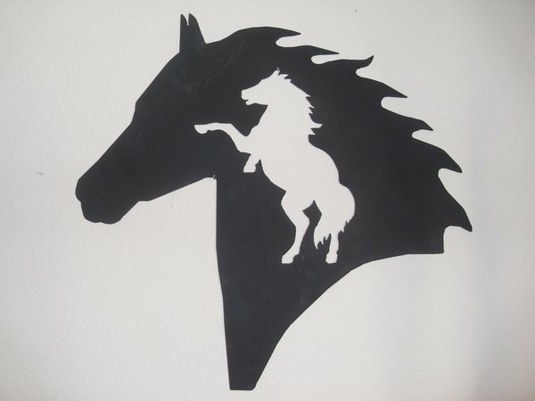 Rearing Horse In Horse Head on Home Decor Store
