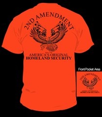 Front and Back printed T-Shirts Second Amendment