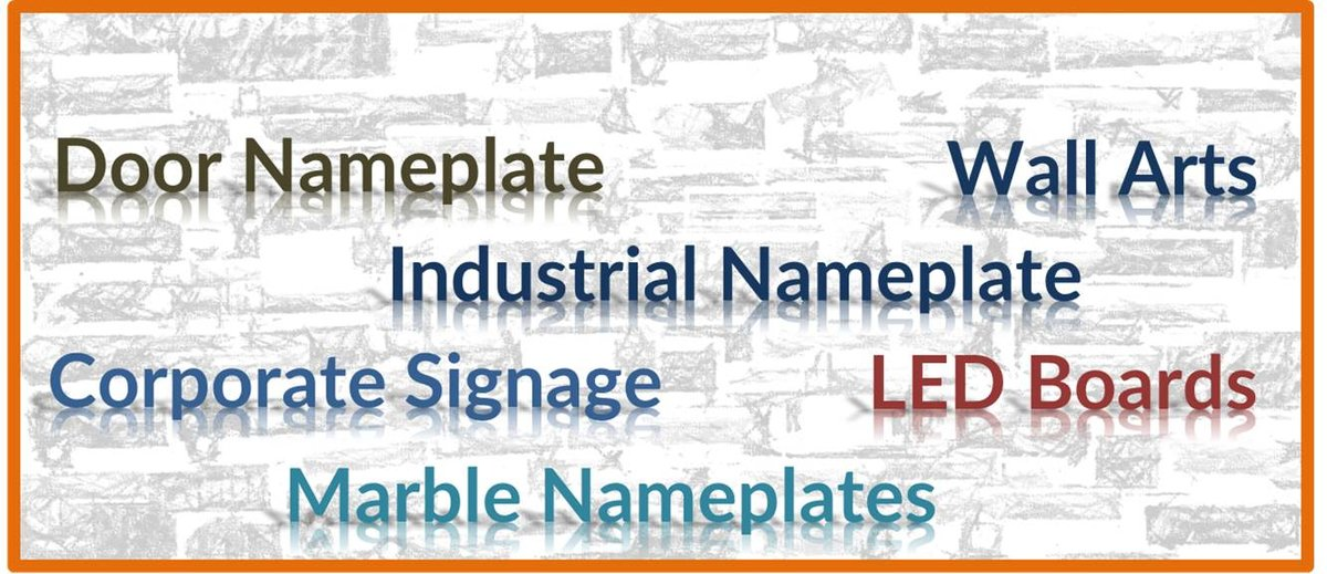 Name Plate Design Online | Door Name Plate | Nameplate Maker