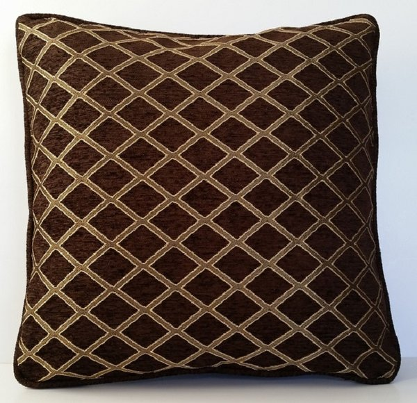 Brown Chenille Throw Pillows : brown gold chenille classic woven designed pillows just the right pillow