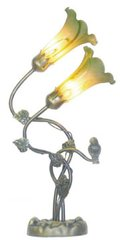 "21""H Double Hummingbird Lamp"