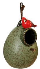 "G151 8.5"" H Ceramic Birdhouse"