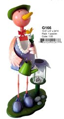 "G166 13.5"" x 9"" x 24""H GIRL BIRD SOLAR LIGHT"