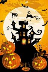 """Devil Castle Flag for Halloween 28""""x40"""""""