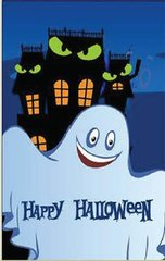 """Ghost Flag for Halloween 28""""x40"""""""