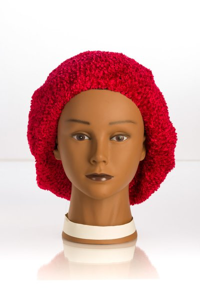 Chenille LINED Snood-Red (AT04RDL)