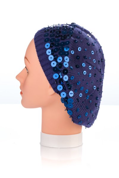 Multi Size Sequin Snood-Navy (AT32NYU)