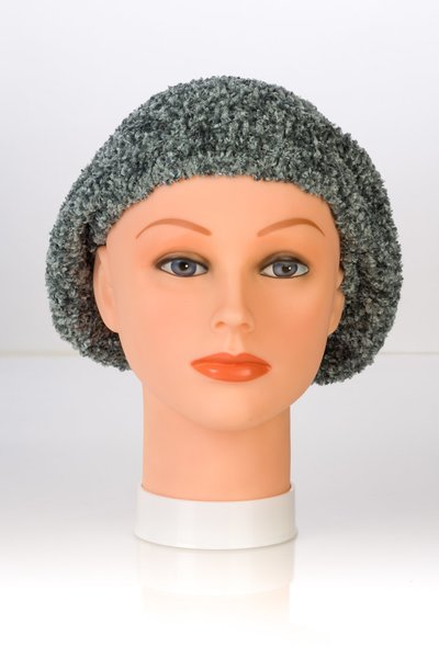 Chenille LINED Snood-Silver (AT04SLL)