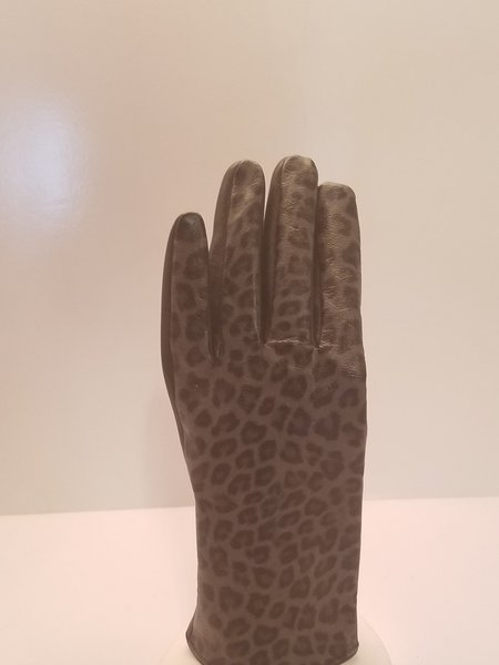 Leopard Print Leather gloves (AT44LEP)