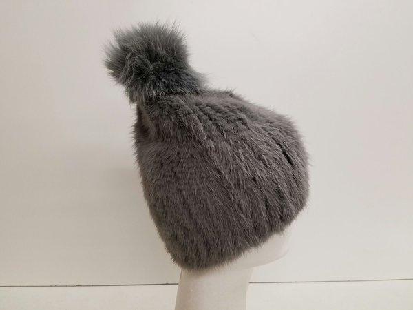 Grey 100% mink Fur (AT50GYHP)