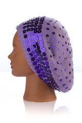 Multi Size Sequin Snood-Plum (AT32PLU)