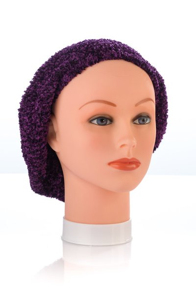 Chenille UNLINED Snood-Plum (AT04PLU)