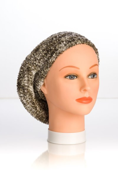 Chenille Shadow LINED Snood-Grey (AT05GYL)