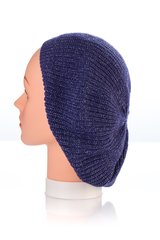 Knit Snood-Navy with Silver Streaks (AT21NYU)