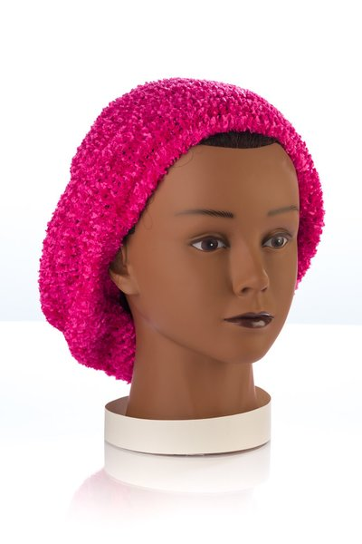 Chenille UNLINED Snood-Fuchsia (AT04FUU)