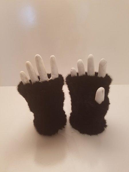 Mink Fur Hand Warmer-Black (AT53BKW)