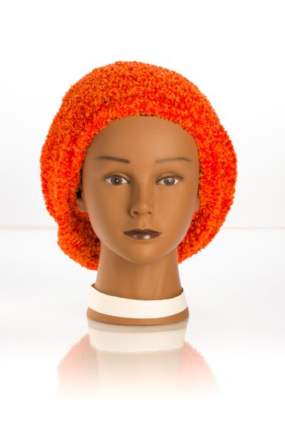 Chenille LINED Snood-Orange (AT04ORL)