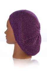 Knit Snood-Plum with Silver Streaks (AT21PLU)