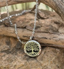 Tree of life Aromatherapy/Essential Oil Diffuser locket necklace.