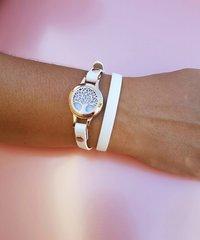 Faith Rose Gold essential oil diffusing bracelet.