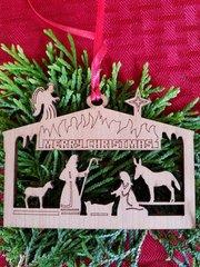 Manger scene Christmas ornament