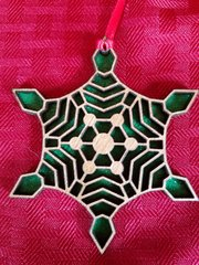 Snowflake ornament with glitter