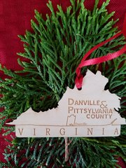 Wood State Where You Live Christmas Ornament