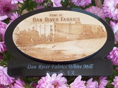 Acrylic Plaque with Dan River Reclaimed Flooring
