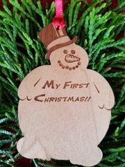 Puggy Snowman Ornament