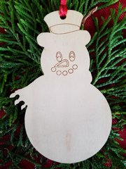 Snowman with Scarf Christmas Ornament