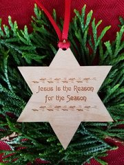 Jesus is the Reason Star Ornament