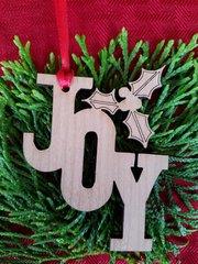 Joy Cutout Christmas Ornament