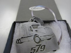 Pewter Peterbilt 579 Ornament with Gift Box