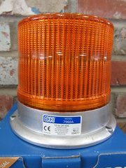 "Ecco 7960 Pulse Amber LED Beacon 3 bolt or 1"" pipe mount"