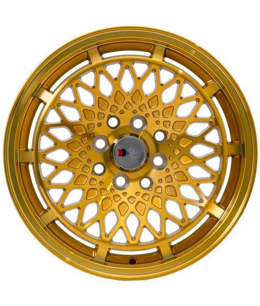 F1r Wheels F06 Machine Gold 15x8 Silly Slow Miata