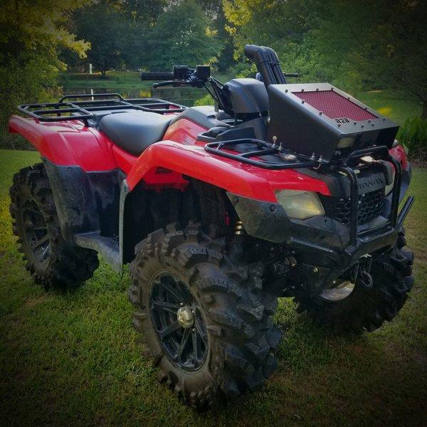 Honda 420 Rancher >> Honda 420/500 Radiator Relocate Kit | N2Deep Customs