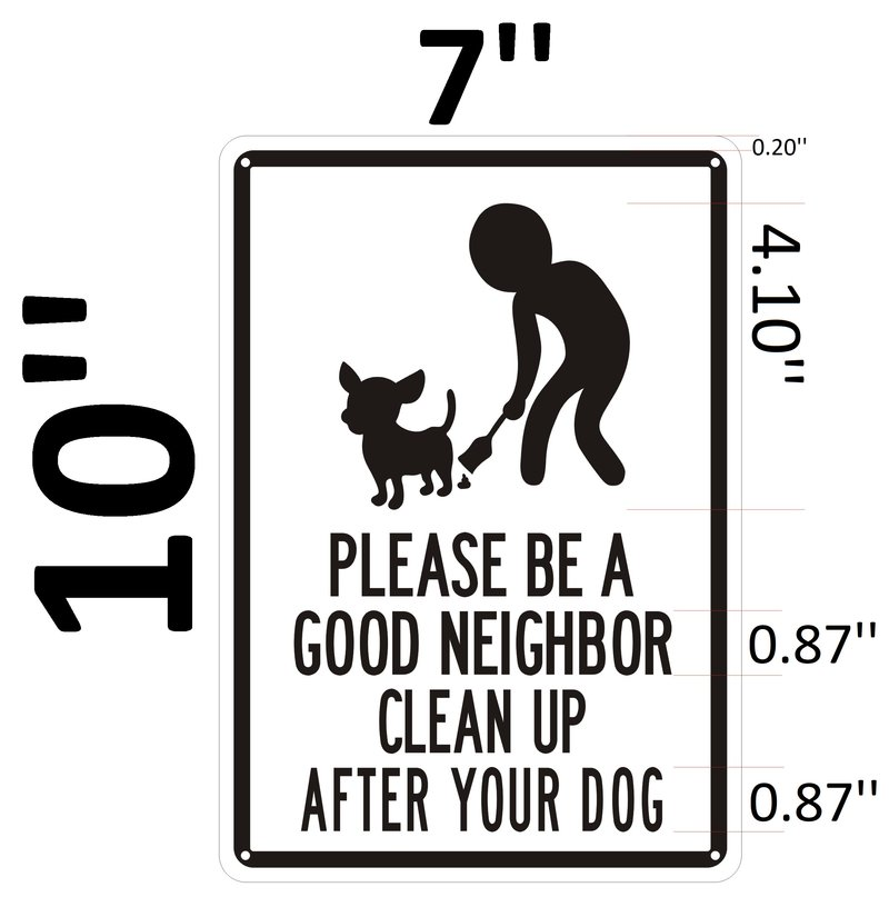 Dob Sign Please Be A Good Neighbor Clean Up After Your
