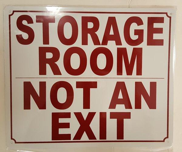Sprinkler Sign Storage Room Not An Exit Sign Aluminum