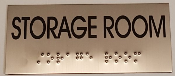 Storage Room Sign Stainless Steel Your
