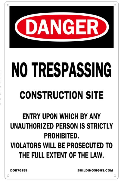 Nyc Dob Sign No Trespassing Construction Site Your