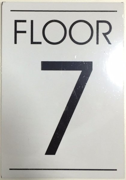 Hpd sign floor number seven 7 sign aluminum sign ideal for Floor number sign