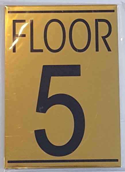 Hpd floor number five 5 sign aluminum sign ideal for for Floor number sign