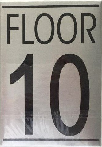 Nyc hpd floor number ten 10 sign aluminum sign ideal for Floor number sign