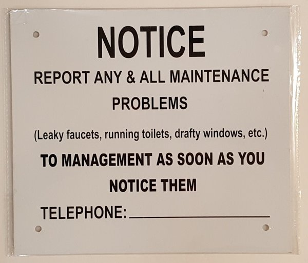 Nyc Dob Sign Report Any Amp All Maintenance Problems Notice