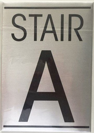 Nyc dob floor number sign stair a sign an aluminum sign for Floor number sign