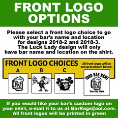 THIS INFORMATION MUST BE COMPLETED !!!!! BAR NAME INFORMATION AND CHOICE OF FRONT LOGO DESIGN