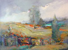 "#068 Alberta Homestead - 30""x22"", Acrylic on stretched canvas"