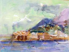 """#261 Côte Provençale, France - 20""""x15"""", Watercolour on paper"""
